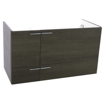 39 Inch Wall Mount Grey Oak Bathroom Vanity Cabinet
