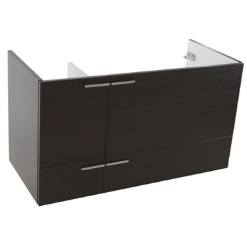 39 Inch Wall Mount Wenge Bathroom Vanity Cabinet