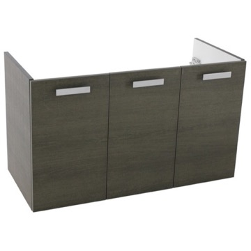 37 Inch Wall Mount Grey Oak Bathroom Vanity Cabinet