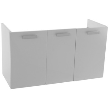 37 Inch Wall Mount Glossy White Bathroom Vanity Cabinet