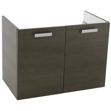 30 Inch Wall Mount Grey Oak Bathroom Vanity Cabinet