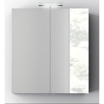 Wall Mounted 28 Inch Medicine Cabinet with Mirror and 2 Doors