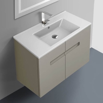 32 Inch Vanity Cabinet With Fitted Sink