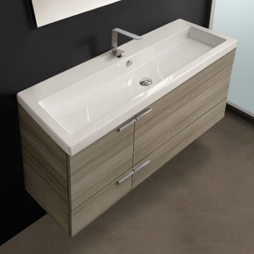 47 Inch Larch Canapa Bathroom Vanity Set, Large Basin Sink