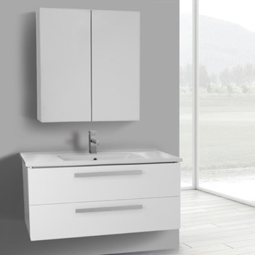 38 Inch Vanity Cabinet With Fitted Sink ACF DA06 TheBathOutlet
