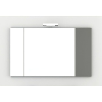 Wall Mounted 47 Inch Vanity Mirror with Chromed Edges