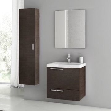 23 Inch Wenge Bathroom Vanity Set