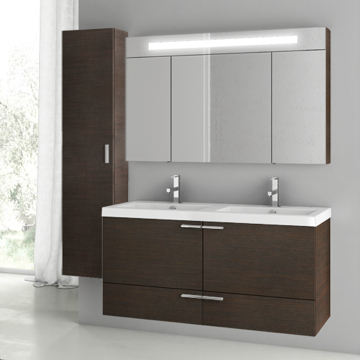 47 Inch Wenge Bathroom Vanity Set
