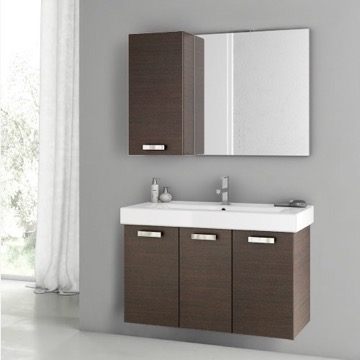39 Inch Wenge Bathroom Vanity Set
