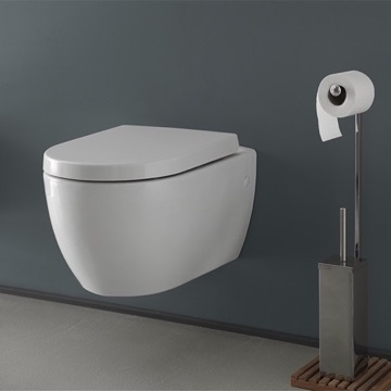 White Ceramic Wall Mount Toilet