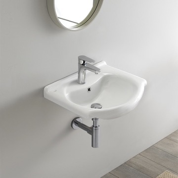 Small Ceramic Wall Mounted or Drop In Sink