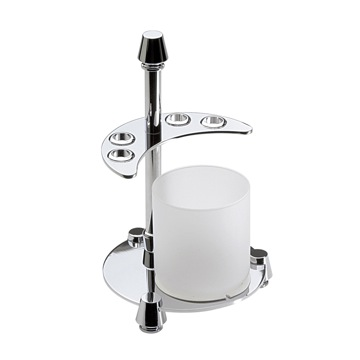 4-Hole Toothbrush Holder and Bathroom Tumbler