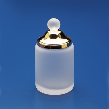 Frosted Glass Cotton Swab Jar