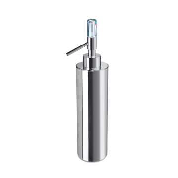 Contemporary Brass Soap Dispenser with Swarovski Crystal