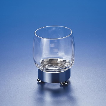 Round Clear Crystal Glass Tumbler