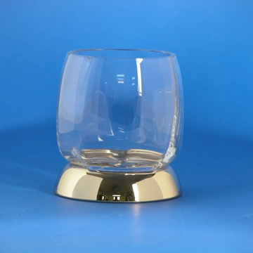 Rounded Clear Crystal Glass Tumbler