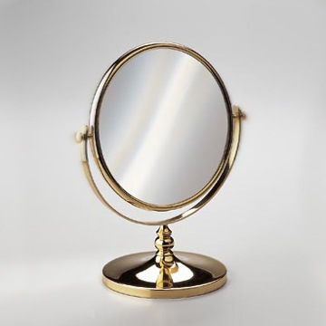 Makeup Mirror Double Face 3x or 5x Brass Magnifying Mirror 99102D Windisch 99102D