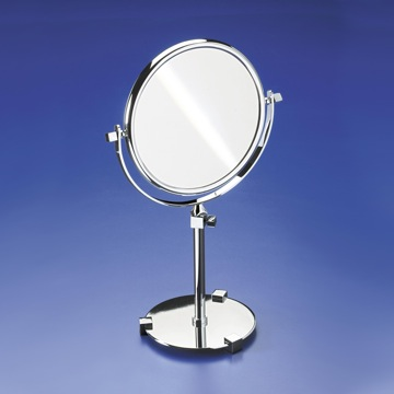Makeup Mirror Pedestal Double Face 3x Gold Magnifying Mirror 99126D Windisch 99126D