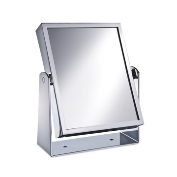 Square Double Face Brass 3x or 5x Magnifying Mirror