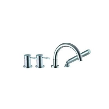 Deck Mount Tub Filler Four Holes Deck Mounted Tub Mixer With Hand Shower Set S3234 Fima S3234