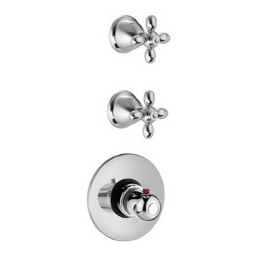 Thermostatic Shower Mixer Classic Built/In Thermostatic Mixer With Double Volume Control Handles S5043/2 Fima S5043/2/S2262