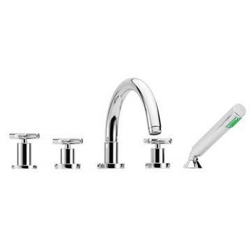Deck Mount Tub Filler Five Holes Deck Mounted Tub Faucet With Hand Shower Set S5314 Fima S5314