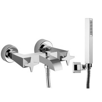 Tub Filler Wall Mounted Tub Faucet With Hand Shower S5554 Fima S5554
