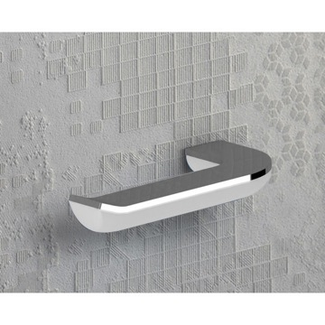 Toilet Paper Holder, Contemporary, White and Chrome, Cromall,Thermoplastic Resins, Gedy Bijou, Gedy 1424-23