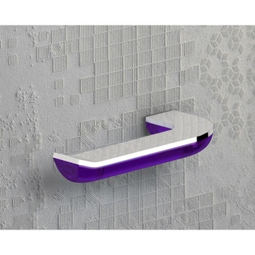 Toilet Paper Holder, Contemporary, Transparent Lilac and Chrome, Cromall,Thermoplastic Resins, Gedy Bijou, Gedy 1424-32