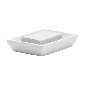 Rectangle White Soap Holder