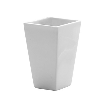 Square White Pottery Toothbrush Holder