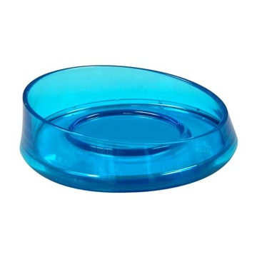 Transparent Turquoise Round Soap Dish