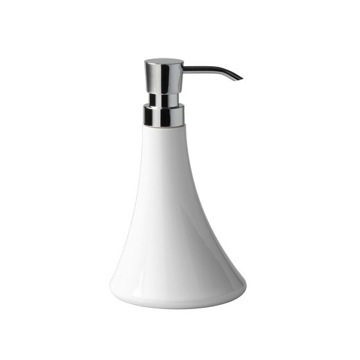 White Round Soap Dispenser