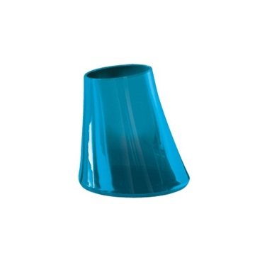 Transparent Turquoise Round Toothbrush Holder