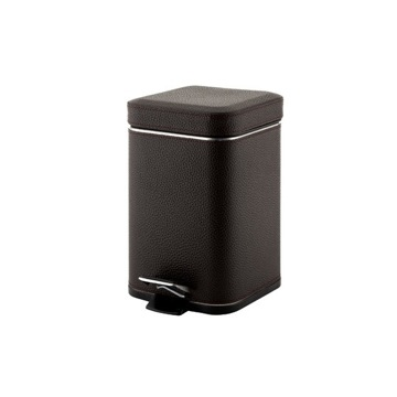 Square Wenge Waste Bin With Pedal 2209-19 Gedy 2209-19