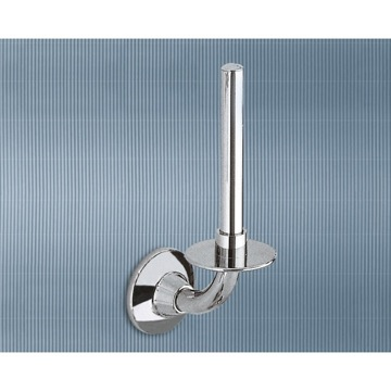Toilet Paper Holder, Contemporary, Chrome, Brass, Gedy Ascot, Gedy 2724-02-13