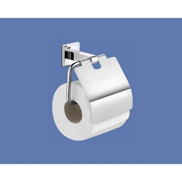 Toilet Paper Holder, Contemporary, Chrome, Stainless Steel, Gedy New Jersey, Gedy 2825-13