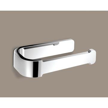 Toilet Paper Holder, Contemporary, Chrome, Brass, Gedy Outline, Gedy 3224-13