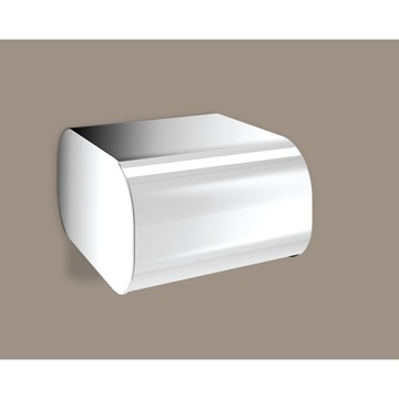 Toilet Paper Holder, Contemporary, Chrome, Brass, Gedy Outline, Gedy 3225-13