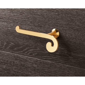 Toilet Paper Holder, Classic, Gold, Brass, Gedy Sissi, Gedy 3324-87