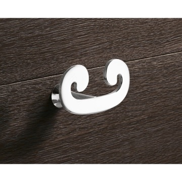 Bathroom Hook Chrome Double Hook 3326-13 Gedy 3326-13