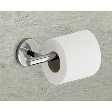 Toilet Paper Holder, Contemporary, Chrome, Cromall,Stainless Steel,Thermoplastic Resins, Gedy Vermont, Gedy 4224-13