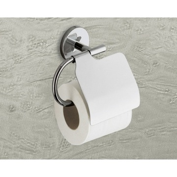Toilet Paper Holder, Contemporary, Chrome, Cromall,Stainless Steel,Thermoplastic Resins, Gedy Vermont, Gedy 4225-13