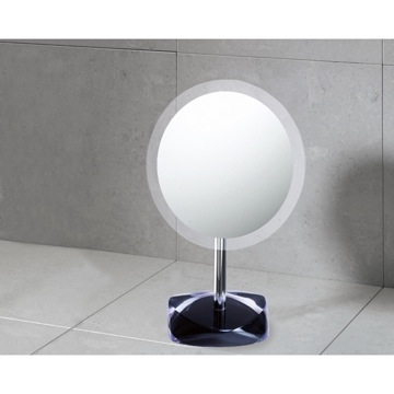 Makeup Mirror Magnifying Mirror with Round Black Colored Base 4607-14 Gedy 4607-14