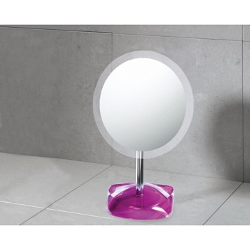 Makeup Mirror Magnifying Mirror with Round Ruby Red Colored Base 4607-53 Gedy 4607-53