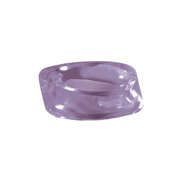 Lilac Round Countertop Soap Holder