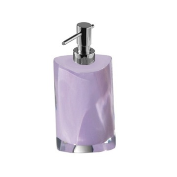 Lilac Round Countertop Soap Dispenser