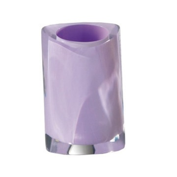 Lilac Round Countertop Toothbrush Holder