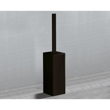 Square Matte Black Toilet Brush Holder