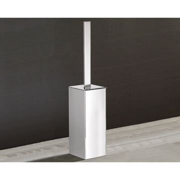 Square Polished Chrome Toilet Brush Holder